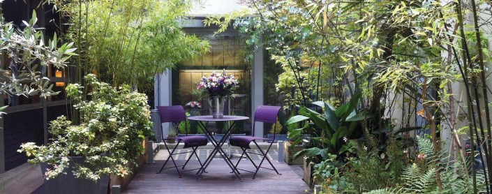 Villa Violet Paris : évenements sur mesure - vue sur cour, le jardin