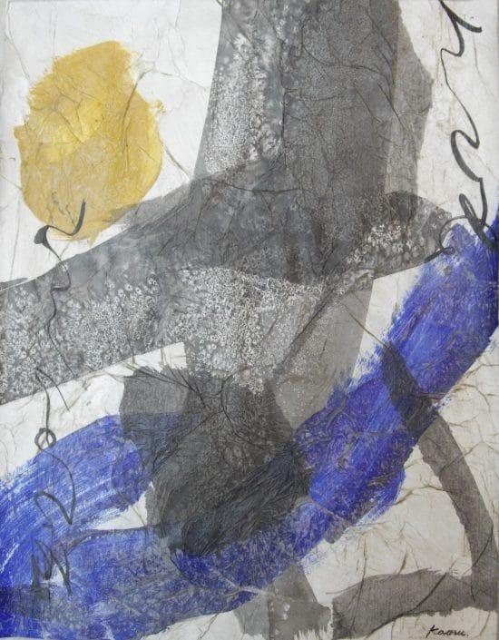 Kaoru Tsusawa - œuvre peinte - technique mixte sur papier exposée à Villa Violet Paris