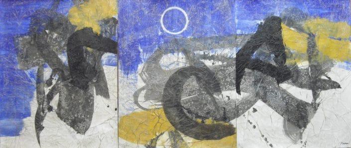 Kaoru Tsusawa - œuvre peinte sur papier exposée à Villa Violet Paris