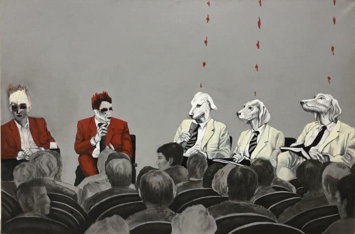 """Dominique Albertelli, peinture exposition """"Comme Je Suis"""""""