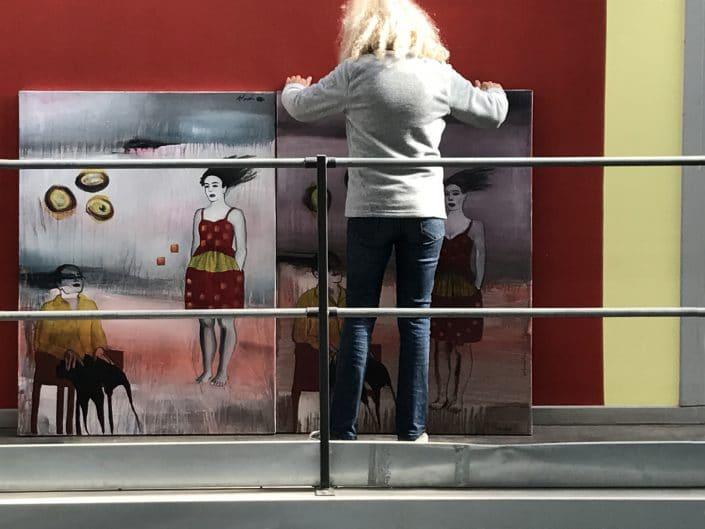 """Dominique Albertelli prépare, dans son atelier, l'exposition """"Comme Je Suis"""""""