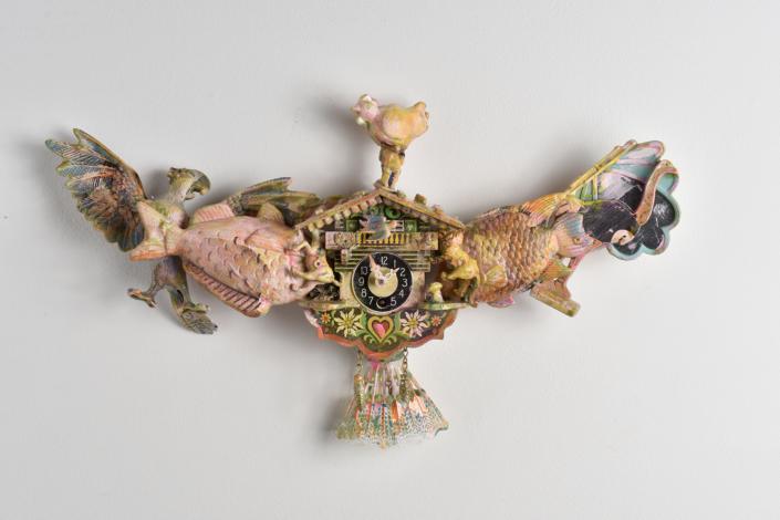 Sculpture assemblage aigle bicéphale